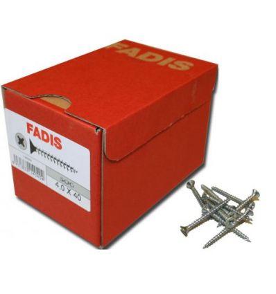 Torni.fadis galva c/p 4,0 20x016 de fadis caja de 1000 unidades