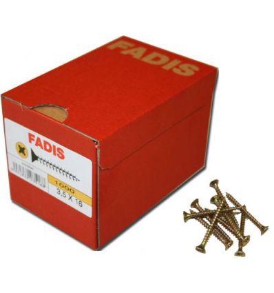 Torni.fadis bicro c/p 3,0 18x020 de fadis caja de 1000 unidades