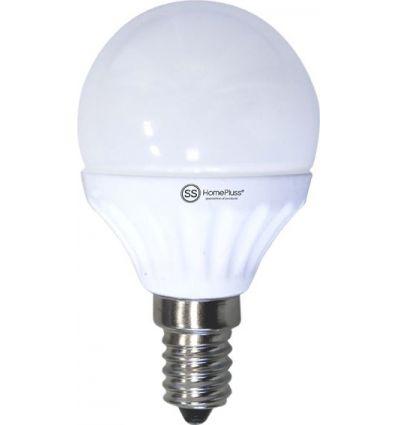 Lampara esferica led e14 7,5w 4200k de marca caja de 5 unidades
