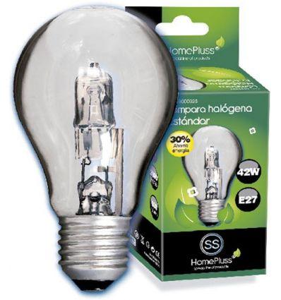 Lampara halogena sta clara e27 42w (60w) de marca caja de 10