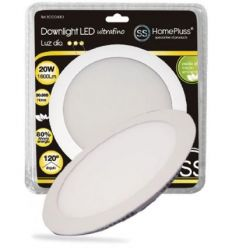 Downlight plano led 20w 6000k blanco de marca