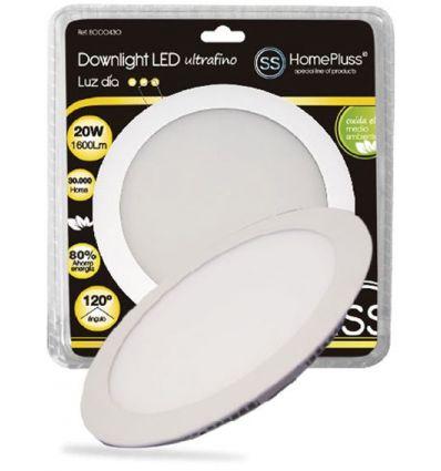 Downlight plano led 20w 6000k blanco de marca
