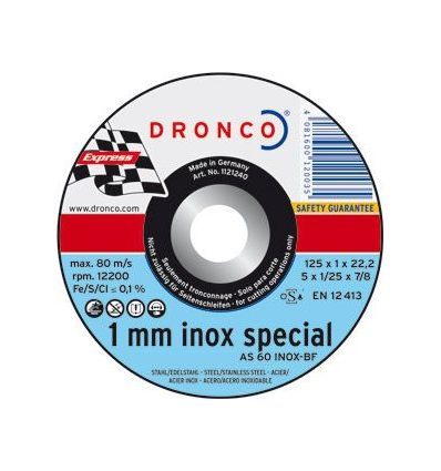 Disco dronco as60tinox 125x1,0x22,2 c.me de dronco caja de 25