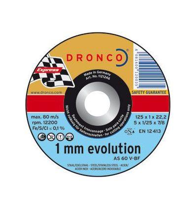Disco dronco as60 v-125x1,0x22,2 c.metal de dronco caja de 25