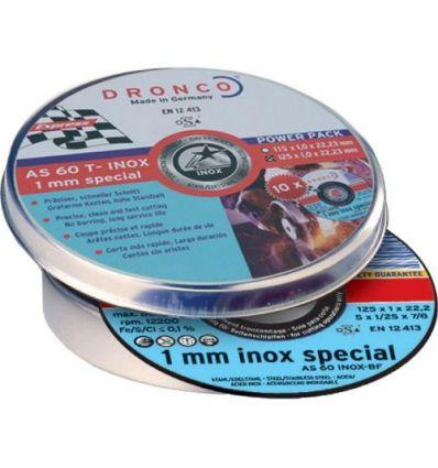 Disco dronco as60tinox-bf 125x1x22,2pack de dronco
