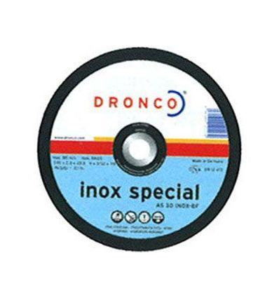 Disco dronco as30inox 230x2,5x22,2 de dronco caja de 25 unidades