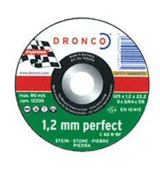 Disco dronco c60r 125x1,2x22,2 c.piedra de dronco caja de 25