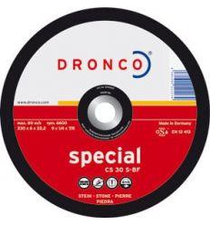 Disco dronco cs30s 230x6,0x22,2 desbaste de dronco caja de 10