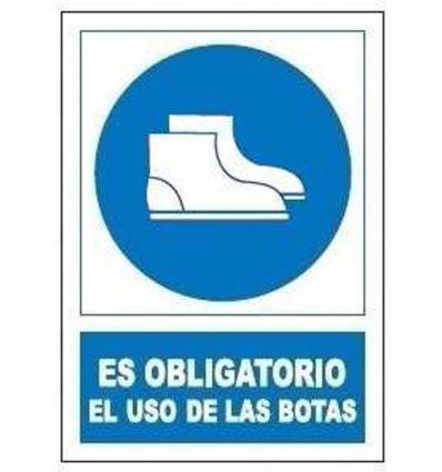 Señal obligatoria uso botas so801 de jg señalizacion