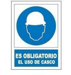 Señal obligatoria uso casco so800 de jg señalizacion