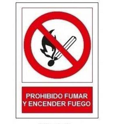 Señal prohibido fumar/encen.fuego sp853 de jg señalizacion