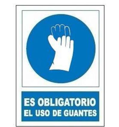 Señal obligatoria uso guantes so802 de jg señalizacion