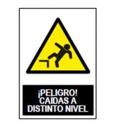 Señal adv.peligro caida dis.nivel sa1004 de jg señalizacion