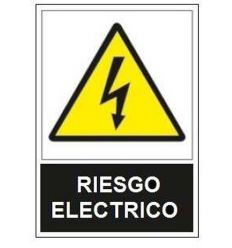 Señal adv.riesgo electrico sa1000 de jg señalizacion