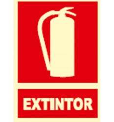 Señal fotolumines.extintor ex001 de jg señalizacion