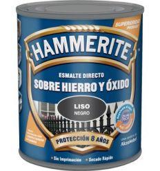 Hammerite metalico liso 750ml negro de hammerite caja de 6