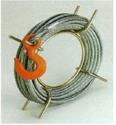Cable 30m 8,3mm c/gancho y enrollador de alba