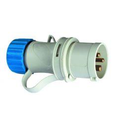 Clavija cetac 1100050 2p+t 220v/16a azul de asein