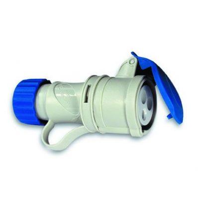 Base cetac 1100067 2p+t 220v/32a azul de asein