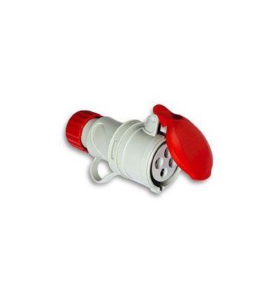 Base cetac 1100057 3p+n+t 380v/16a rojo de asein