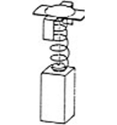 Escobillas 2 piezas 1796 hitachi de asein caja de 10 unidades