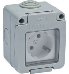 Base 19071 doble ttl estan.ip55 16a-250v de famatel caja de 9