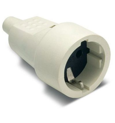 Base 2104b ttl goma blanco 16a-250v de famatel caja de 20