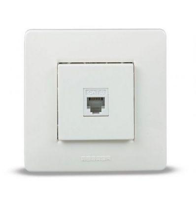 Base 9037 empotrar telf.bco.rj11 6p4c de famatel caja de 8