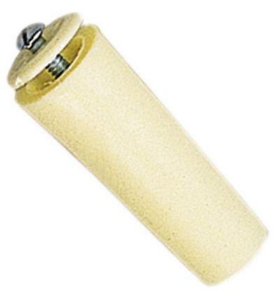 Tope 60mm c/tornillo 06021001 marfil de gaviota simbac caja de