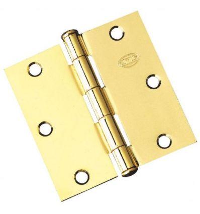 Bisagra 1010-3,0x3,0 h.latonado par de amig caja de 5 unidades