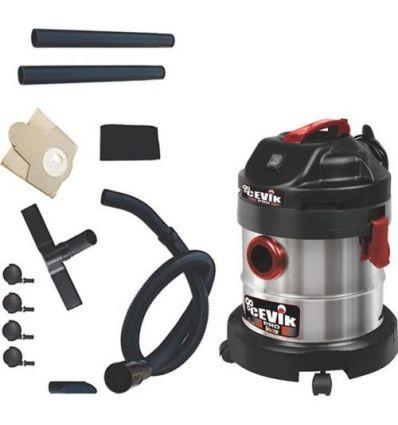 Aspirador seco/humedo pro 20x 1250w 20l de cevik