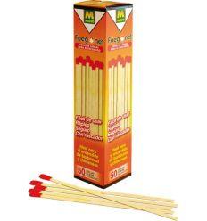 Cerillas largas 20cm 231124-50pz de fuego net caja de 36