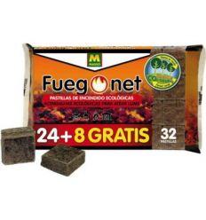 Pastillas ecologicas 231094-32pz de fuego net caja de 24