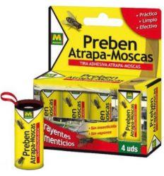 Preben tiras atrapa-moscas 231277-4pz de preben caja de 24