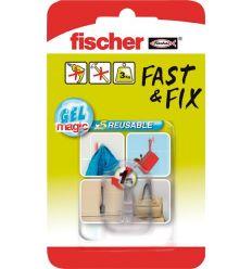 Colgador gancho 533609 fast&fix trans.bl de fischer caja de 10