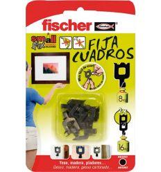 Fija cuadros blanco 522206 blister de fischer caja de 20