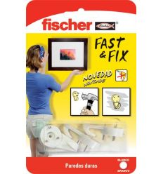 Colgador cuadros 534844 fast&fix 3pun bl de fischer caja de 10