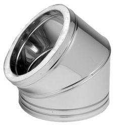 Codo dp inox 304 45º 150mm de dinak