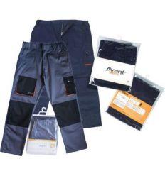 Pantalon bicol.avant t-m marino/naranja de eskubi