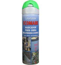 Spray marcador ecomark verde 500ml de c.r.c. caja de 12 unidades