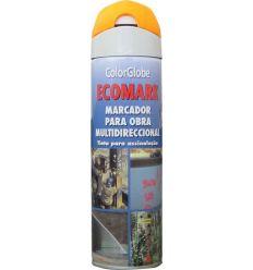 Spray marcador ecomark naranaja 500ml de c.r.c. caja de 12