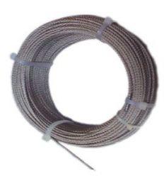 Cable acero inox c/d 08/7x19+0 de cables y eslingas caja de 100