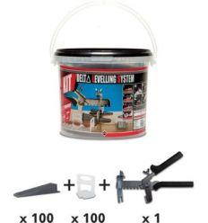 Kit delta levell.system 2849 3-12mm 1mm de rubi