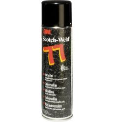 Adhesivo contacto s77 500ml spray de 3m caja de 12 unidades