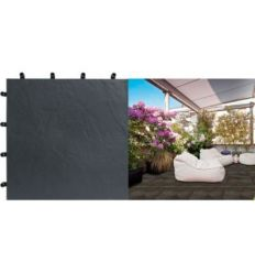 Loseta blacknite polipropi.40x40 negro de nortene