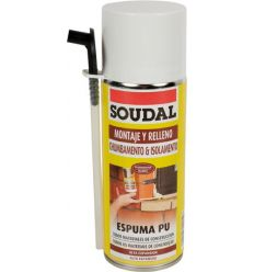 Espuma poliuret. 300ml manual 121651 de soudal caja de 6