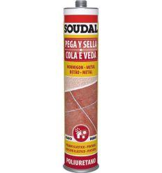 Masilla poliuretano 300ml-117567 marro de soudal caja de 12