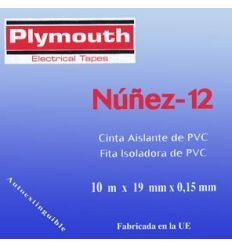 Cinta aislante pvc 5071-10mx19mm azul de plymouth caja de 10