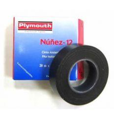 Cinta aislante pvc 5085-20mx19mm blanco de plymouth caja de 10