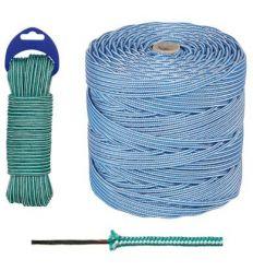 Bobina cuerda bicolor 04mm/200ml azul/bl de rombull ronets